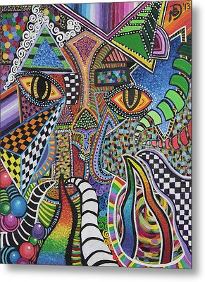 Electric Eyes Metal Print
