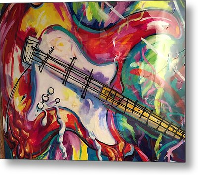Electric Fusion  Metal Print by Heather Roddy