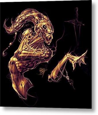 Electric Genie Metal Print by David Bollt