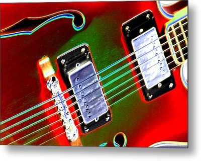 Electric Guitar Metal Print by Peter  McIntosh
