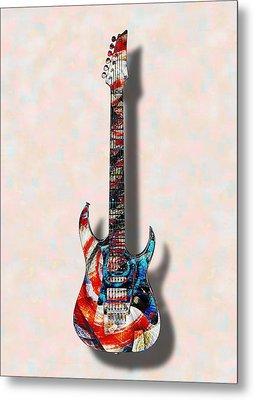 Electric Guitar - Psychobilly - Musical Instruments Metal Print