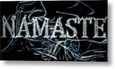 Electric Namaste Metal Print