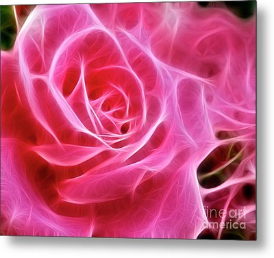 Electric Pink Metal Print