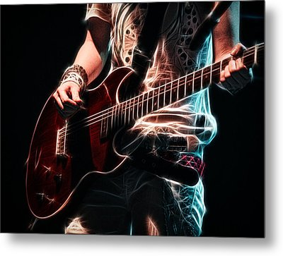 Electric Rock Metal Print by Cameron Wood