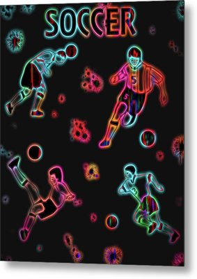 Electric Soccer Poster Metal Print by Dan Sproul