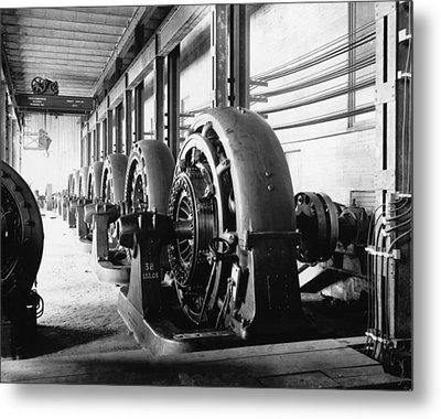Electrical Generators In Edison Sault Metal Print by Everett