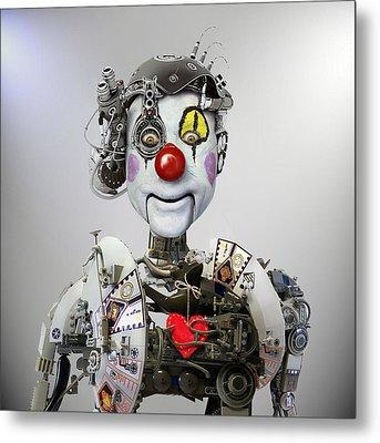 Electronic Clown Metal Print by Ddiarte