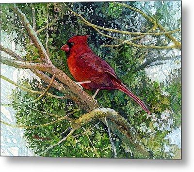 Elegance In Red Metal Print by Hailey E Herrera
