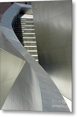 Elegance Of Steel And Concrete Metal Print by Ausra Huntington nee Paulauskaite