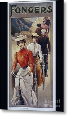 Elegant Fongers Vintage Stylish Cycle Poster Metal Print
