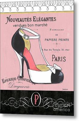 Elegant French Shoes 1 Metal Print by Debbie DeWitt