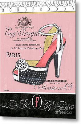 Elegant French Shoes 2 Metal Print by Debbie DeWitt