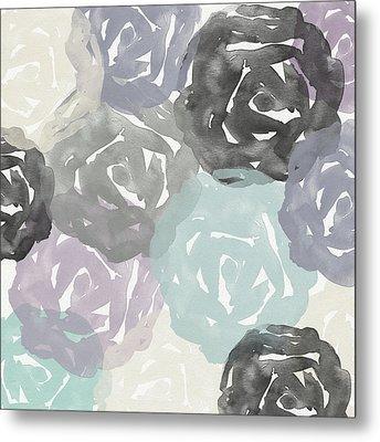 Elegant Roses- Art By Linda Woods Metal Print