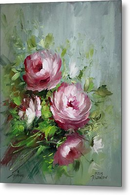 Elegant Roses Metal Print by David Jansen