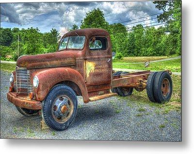 Elegant Rust 1947 International Harvester K B 5 Truck Metal Print by Reid Callaway