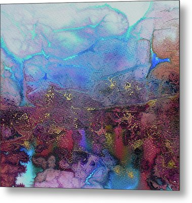 Metal Print featuring the painting Elemental by Mary Sullivan