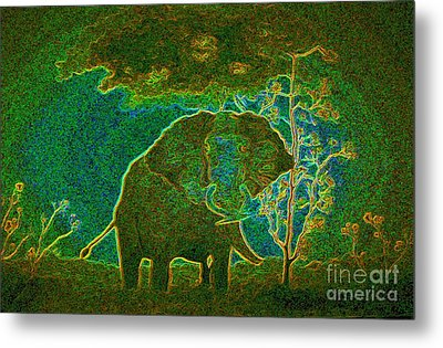 Elephant Abstract Metal Print