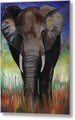 Elephant Metal Print by Anthony Burks Sr