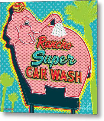 Elephant Car Wash - Rancho Mirage - Palm Springs Metal Print