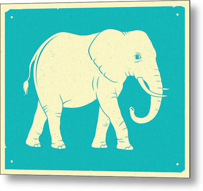 Elephant  Metal Print by Jazzberry Blue