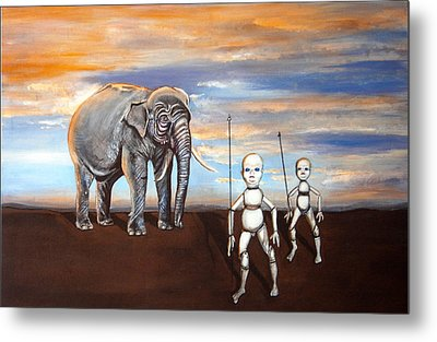 Elephant King Metal Print