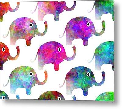 Elephant Parade Metal Print by Kathleen Sartoris
