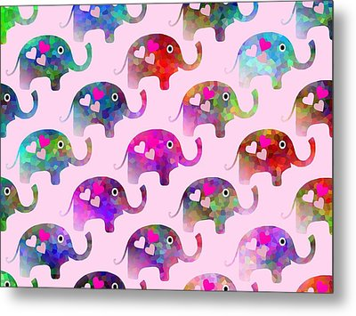 Elephant Party Metal Print by Kathleen Sartoris