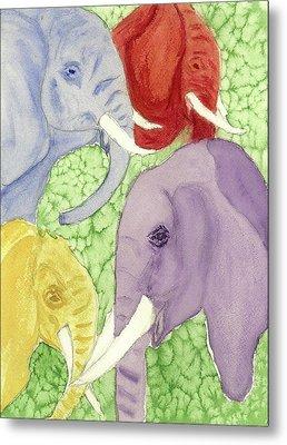 Elephants In The Room Metal Print