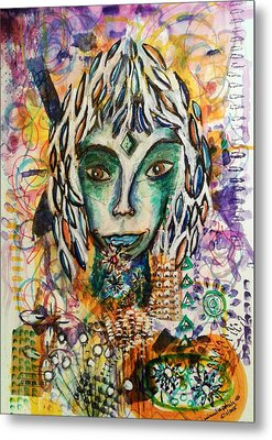 Metal Print featuring the mixed media Elf by Mimulux patricia no No