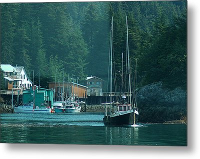 Elfin Cove Alaska Metal Print by Harry Spitz
