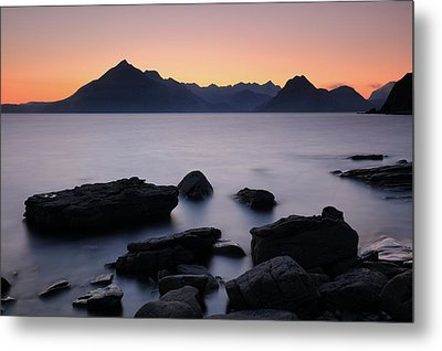 Elgol Red Sunset Metal Print by Grant Glendinning
