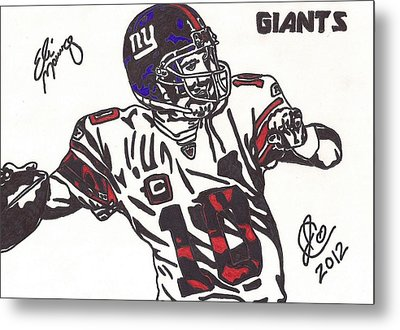 Metal Print featuring the drawing Eli Manning by Jeremiah Colley