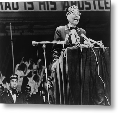 Elijah Muhammad, Leader Of The Black Metal Print by Everett