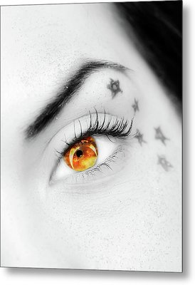 Eclipse And Lashes Metal Print