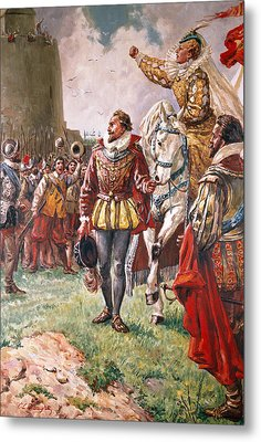 Elizabeth I The Warrior Queen Metal Print by CL Doughty