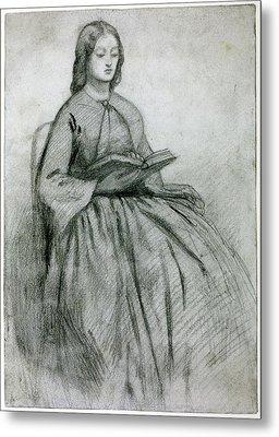 Elizabeth Siddall In A Chair Metal Print by Gabriel Rossetti