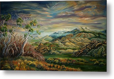 Metal Print featuring the painting Elk Mountain Sunrise by Dawn Senior-Trask