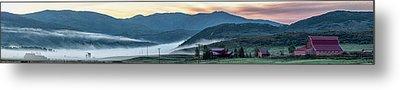 Elk River Fog At Sunrise Metal Print