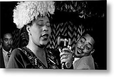 Ella Fitzgerald Dizzy Gillespie And Ray Brown William Gottlieb Photo Nyc 1947-2015 Metal Print by David Lee Guss
