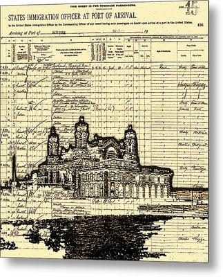 Ellis Island Metal Print by Jeff DOttavio