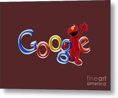 Elmo Google T-shirt Metal Print by Herb Strobino