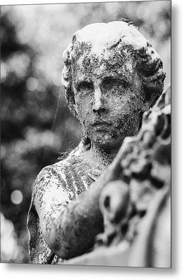 Elmwood Cemetery - Cassie Hill Bw Metal Print by Jon Woodhams