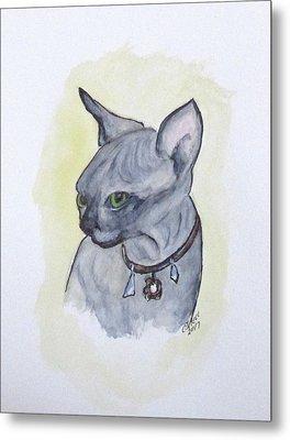 Else The Sphynx Kitten Metal Print