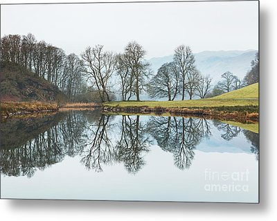 Elterwater Reflections Metal Print by Tony Higginson