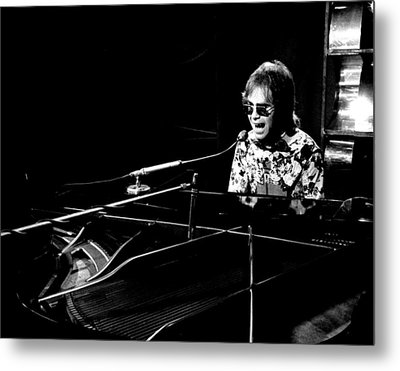 Elton John 1970 #4 Metal Print by Chris Walter