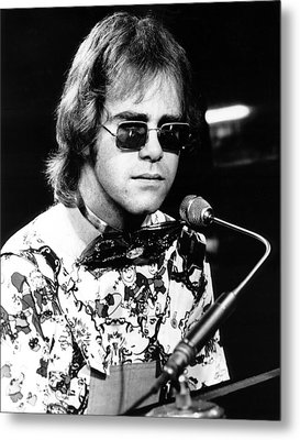 Elton John 1970 #1 Metal Print by Chris Walter