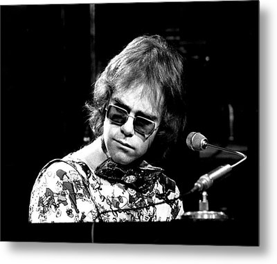 Elton John 1970 #2 Metal Print by Chris Walter
