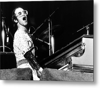 Elton John 1975 Dodger Stadium Metal Print by Chris Walter