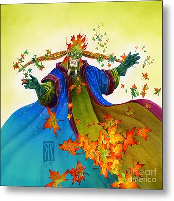 Elven Mage Metal Print by Melissa A Benson