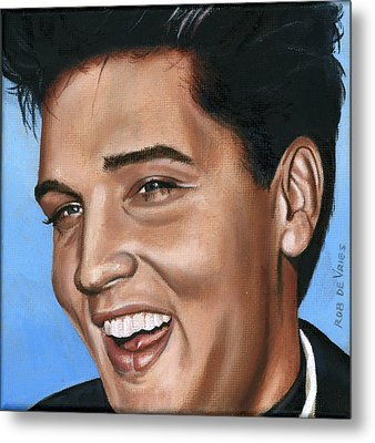 Elvis 24 1960 Metal Print by Rob De Vries
